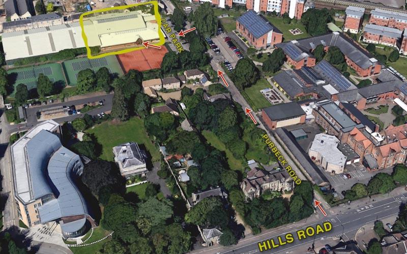 Hills Road Local Map